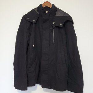 LE CHATEAU| Wool Blend Hooded Coat S Black
